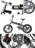 48v Fat Tire Electric Bike Folding with Hidden Battery